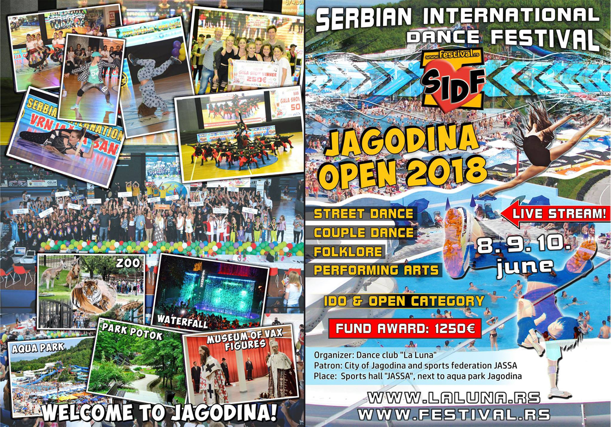 SERBIAN INTERNATIONAL DANCE FESTIVAL-JAGODINA OPEN-9-10.JUN.2018.